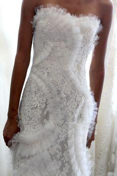 bridal gown detail