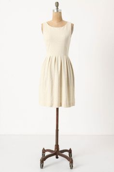 torchon embossed ponte dress cream · anthropologie