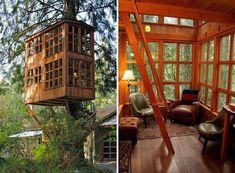 Amazing wooden house idea <3
