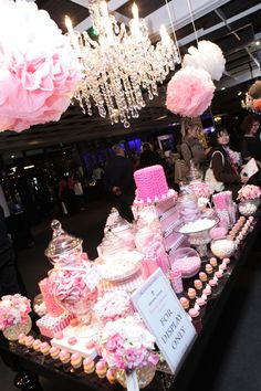 Pretty pink candy station