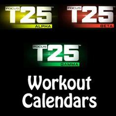focus t25 workout calendar