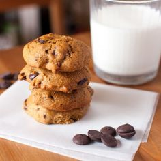 Healthier Chocolate Chip Cookies - A lighter version with zero eggs or butter! These light and chewy cookies are perfect for snack time.