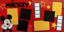 Disney scrapbook layout