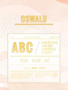 Top-Notch Type : oswald