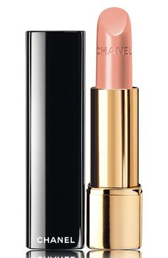 CHANEL ROUGE ALLURE LUMINOUS INTENSE LIP COLOUR  A perfect nude lip for all seasons- keep this in your handbag for touch-ups.    You will fall in love with the luscious scent.   Don't look back on photos from this time in your life and wish your lipstick wasn't so bright and clown-like.   Wear a flattering pinky neutral for the most versatile and ladylike allure.