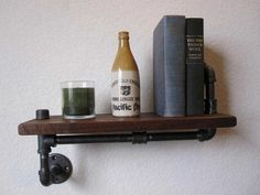 Iron pipe shelf