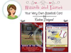 Your Very Own Baseball Card... {Custom Designed} #baseballparty #favors #printables #package #vintage