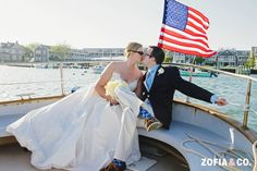 #Nantucket Yacht Club #wedding boat ride on the Rover, Zofia & Co. Photography