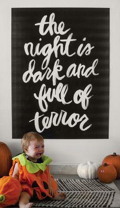 Printable Halloween Trick or Treat Brush Script Set