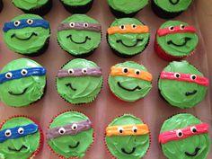 Ninja Turtle Cupcakes - Kyle's next B-day?