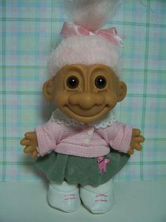 Poodle Skirt Troll Doll