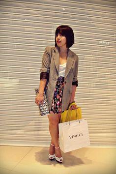 Zara blazer -H&M belt - Guess shoes - Stev