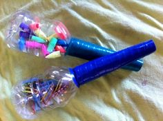 how fun would these maracas be! 8 oz water bottle, tp roll, and electrical tape!