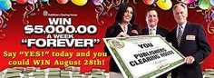 PCH Forever  $5,000 A Week Forever Sweepstakes August 28th 2014
