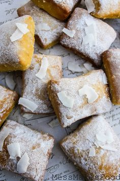 Baked Coconut Beignets