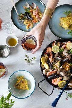 Mmm, seafood paella.