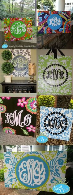Monogrammed wall boards