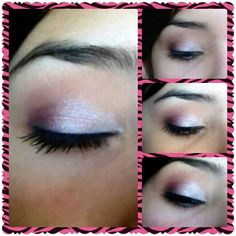 Romantic, soft, purple makeup pretty for wedding