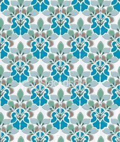 Motivos art nouveau on pinterest art nouveau tiles art nouveau and - Papier peint art nouveau ...