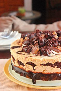 Peanut Butter & Brownie Cheesecake Recipe by Brown Sugar