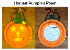 Christian pumpkin - each shape to be glued on is a symbol, explained on the back