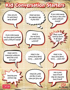 Kid Conversation Starters~ Great kid-interview questions or writing prompts!