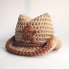 Newborn Cowboy Hat, Baby Crochet Hat, Newborn Photo Prop, Baby Boy Hat