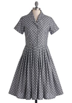 Mod of Approval dress in polka dots #modcloth
