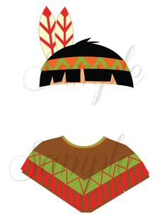 Instant Download Thanksgiving INDIAN boy photo booth props by LemonSqueezeDesigns, $2.99