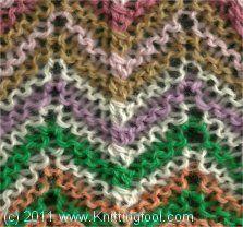 Scrap Yarn Afghan 1 - garter stitch (Scrap Yarn Afghan 2 - stockinette stitch)   KnittingFool.com