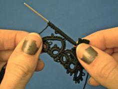 New string challenge.. Needle Tatting