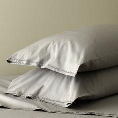 Organic Cotton Frayed-Edge Sheet Set - Soot | west elm