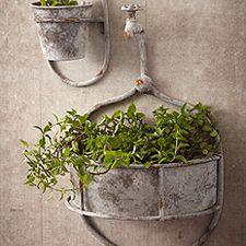 Two's Company Water Spout Flower Pots