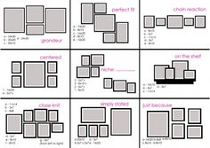 """Oh, I think what the picture frames everywhere on a wall is called a """"Gallery Wall"""". Here are some layouts."""