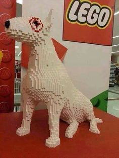 LEGO bullterrier #English #Bull #Terrier #Dog #Dogs #Terriers #Animals #Puppy #Pups #Cute #Funny