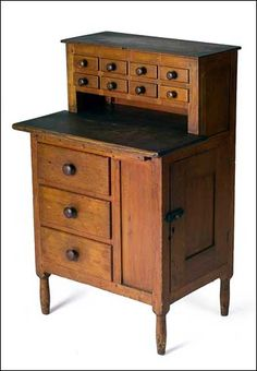 Rare Shaker Child's Sewing Desk, Canterbury, New Hampshire ... Auction Price Realized: $54,280