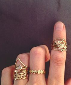 gold rings. #accessories.