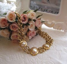 Vintage Napier Pearl Necklace  by Keepsakes By Katherine