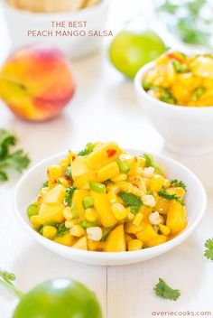 The Best Peach Mango Salsa