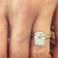 engagement ring, only with a white gold band