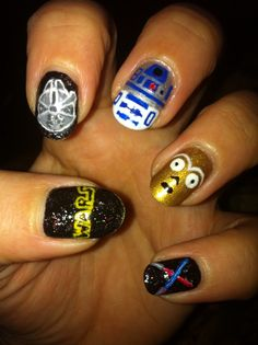 Nail Art - Star Wars @Han Ma E. Richardson (Han Hisey)