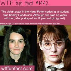 Shirley Henderson - Harry Potter  WTF FUN FACTS HOME  /  See MORE TAGGED/ people/celebs FACTS (Source)