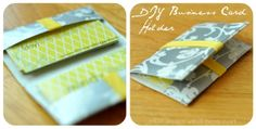 a {day} with lil mama stuart: DIY Business Card Holder - Duct Tape Project!