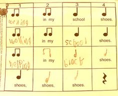 Pete the Cat - rockin' in my school shoes composition/notation activity