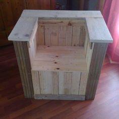 Palettes bois on pinterest garden pallet bricolage and - Fabriquer un fauteuil en bois de palette ...