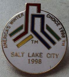 OLYMPIC GAMES PIN Americas Choice Winter 1998 Salt Lake Olympics Hat Pin Badge