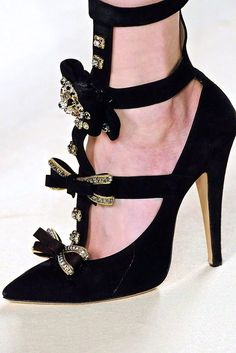 shoes, 2009, fashion, style, heel, chloé shoe, bows, chloe fallwint, black