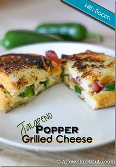 Jalapeño Popper Grilled Cheese and more - have i pinned this one already??  :D