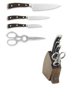 Wüsthof Ikon Blackwood 5-Piece Knife Block Set #WilliamsSonoma