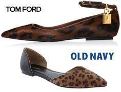 Basics For A Bargain: Pointy Animal Print Flats, Tom Ford Vs. Old Navy!